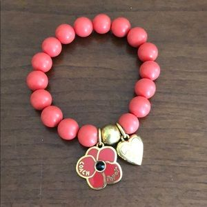 Coach Poppy Beaded Bracelet